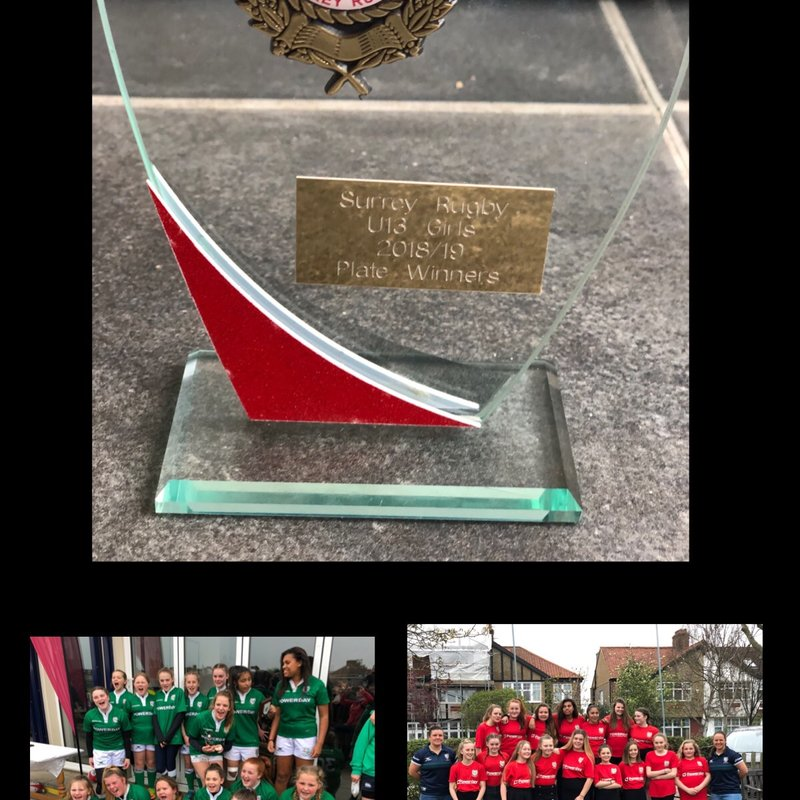 London Irish U13 Girls take home 1st Surrey Silverware