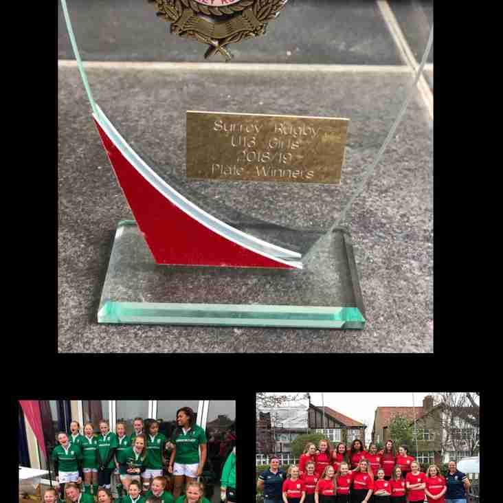 London Irish U13 Girls take home 1st Surrey Silverware