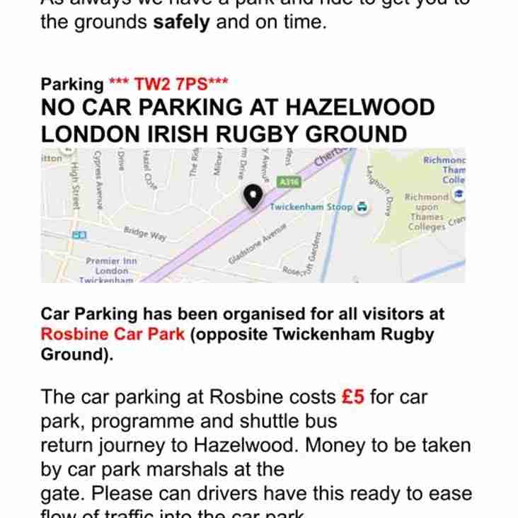 LIARFC International Minis Festival  - Parking Guidelines