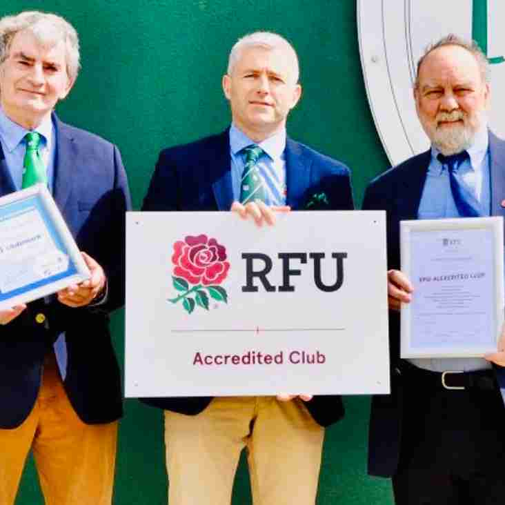 London Irish Amateur RFC awarded RFU Accreditation