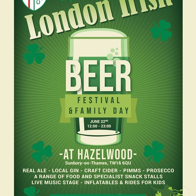 Grab your tickets for the London Irish Amateurs Beer Festival