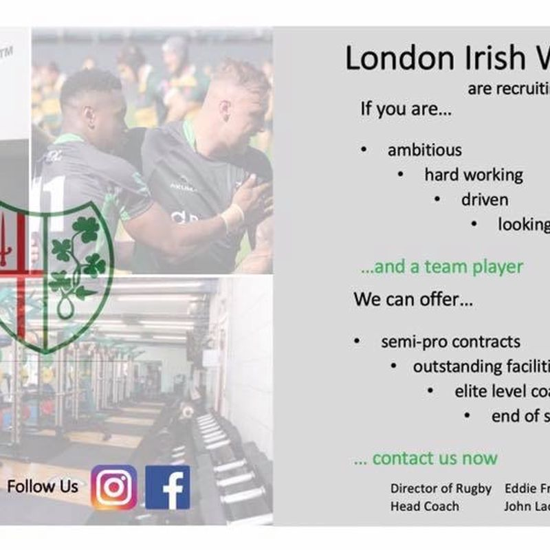 London Irish Wild Geese are currently recruiting for the coming season.