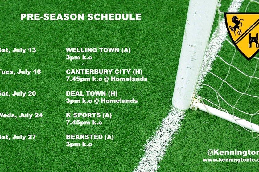 Pre-Season Schedule