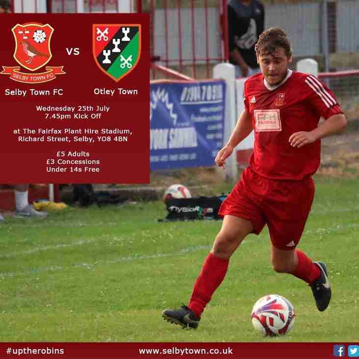 Firsts to take on Selby in a midweek clash
