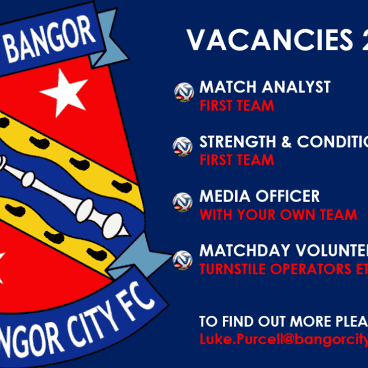 VACANCIES FOR THE 2018/19 SEASON