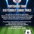 Portishead Town U18 Floodlit League Trials