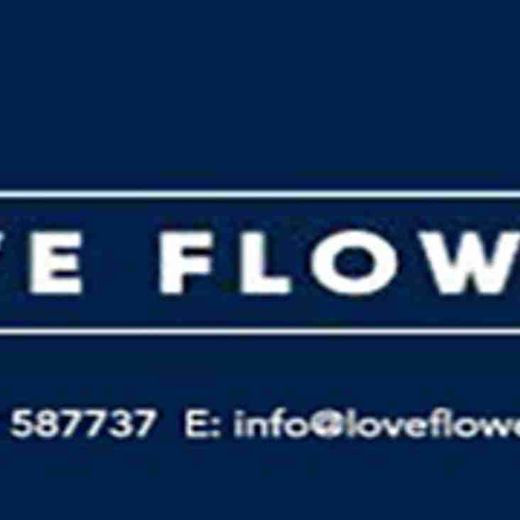 Ladies 1st Team Sponsor - Love Flowers, Hertford