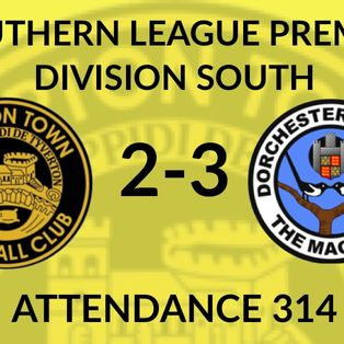Tiverton Town 2-3 Dorchester Town