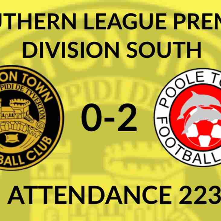 Tiverton Town 0-2 Poole Town