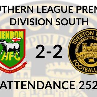 Hendon 2-2 Tiverton Town
