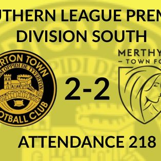 Tiverton Town 2-2 Merthyr Town