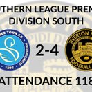 Staines Town 2-4 Tiverton Town