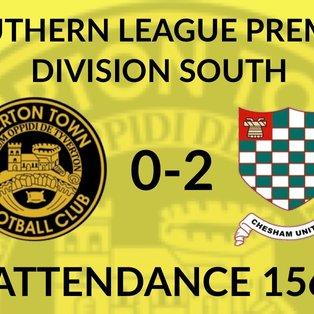 Tiverton Town 0-2 Chesham United