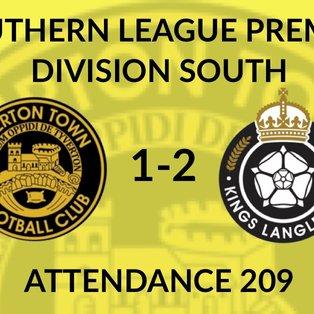 Tiverton Town 1-2 Kings Langley