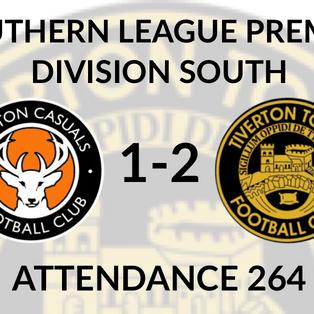 Walton Casuals 1-2 Tiverton Town