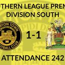 Tiverton Town 1-1 Harrow Borough