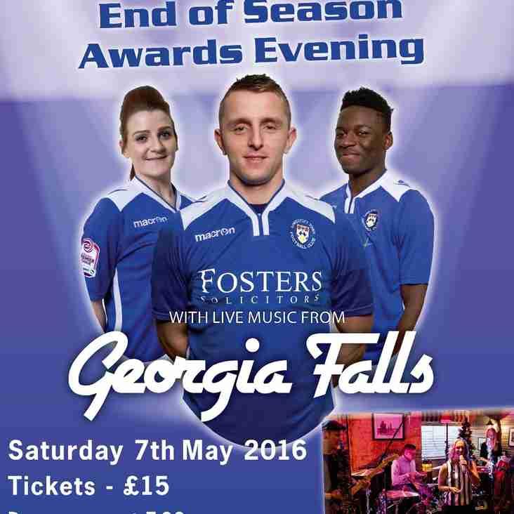End of Season Awards Evening (Saturday 7th May 2016)