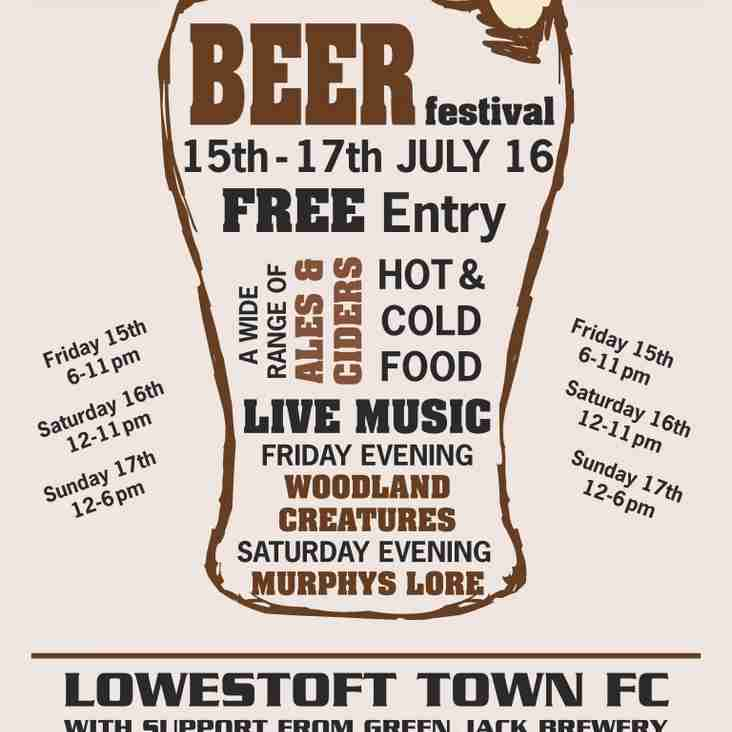 LTFC 3rd Annual Beer Festival (15th-17th July 2016)