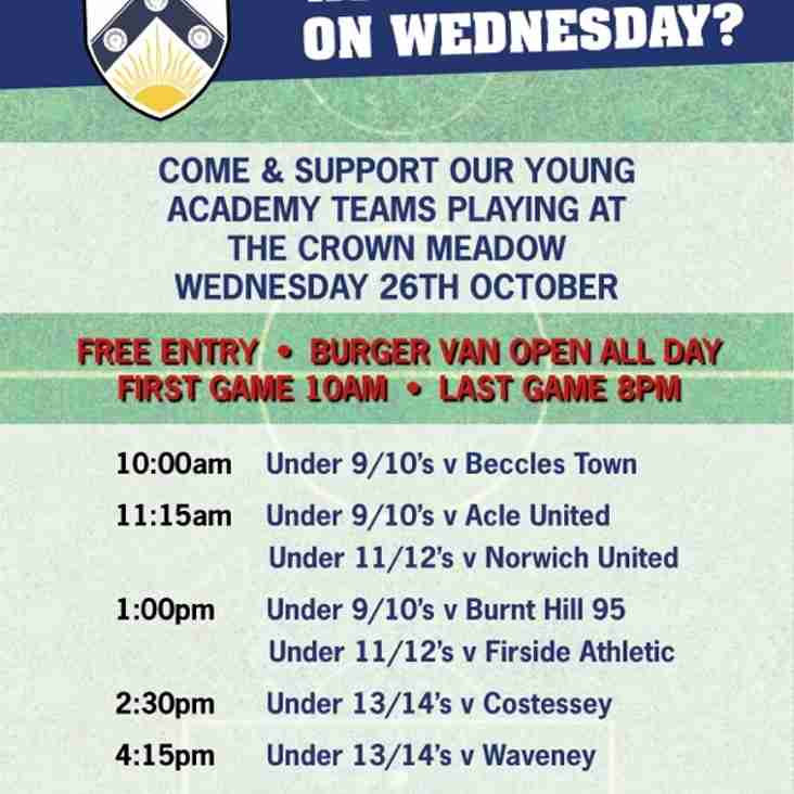 At a loose end on Wednesday?