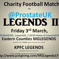 Charity Match for Prostate UK - Friday 3rd March 2017