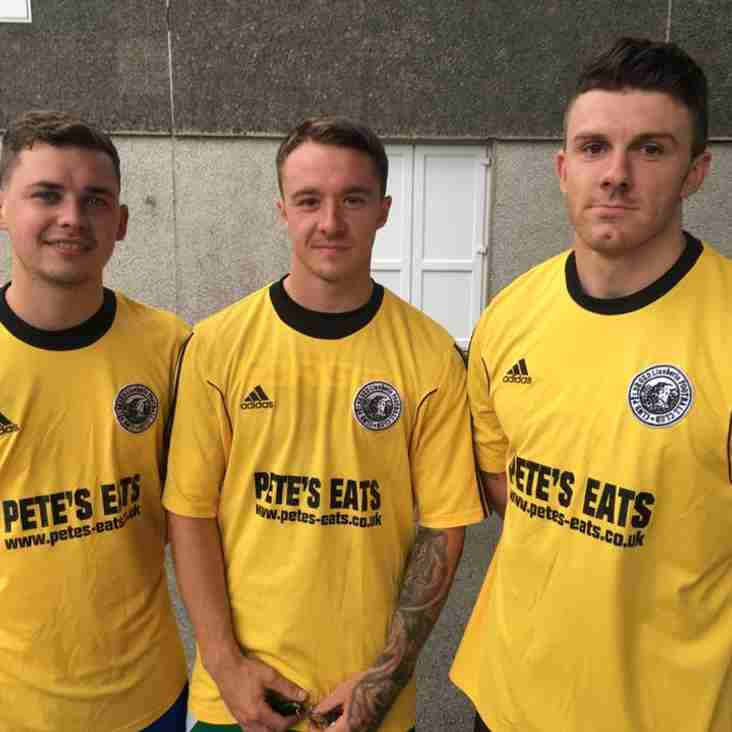 Tri blaenwr wedi arwyddo - Three forwards sign - Rob Daniels, Aeron Pritchard & Josh Hughes