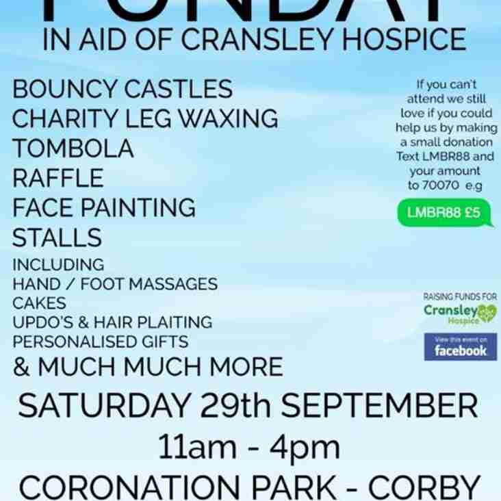 Corby Town Girls Under 14s will be helping to raise money for Cransley Hospice.