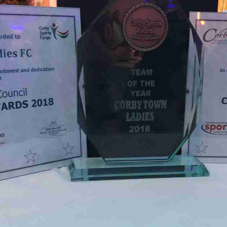 Success for Steelwomen at The Corby Sports Awards