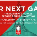 Steeton AFC in FA Vase for First Time
