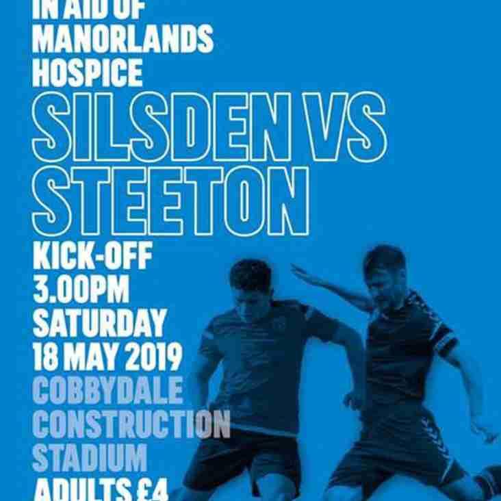 SATURDAY 18th MAY: SILSDEN V STEETON - KO 3pm