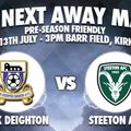 PRE-SEASON FRIENDLY | Away at Kirk Deighton Rangers