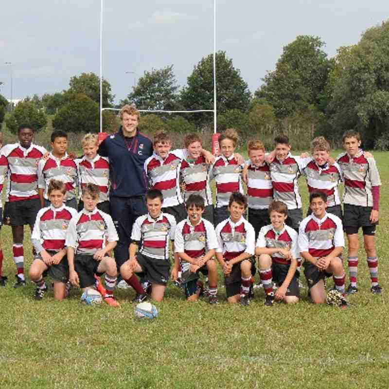 U14 Brentwood Dev with Joe Launchbury 15/9/13