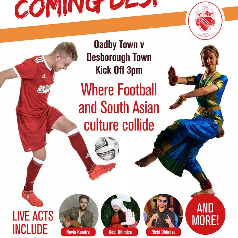 """Oadby Town Host """"World First"""" Football's Coming Desi"""