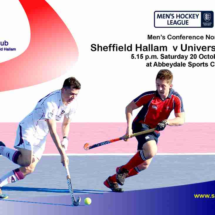 SHC Men's 1s v Durham University - Saturday 20 October - 17:15 start at Abbeydale