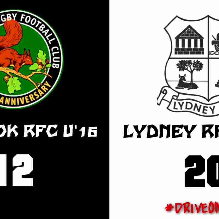 Drybrook U'16s vs Lydney U'16s (Match Report)