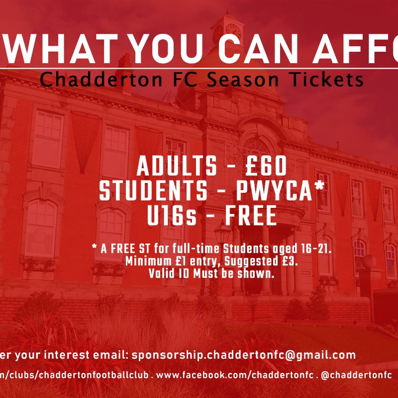 Pay What You Can Afford: Season Tickets now on sale!