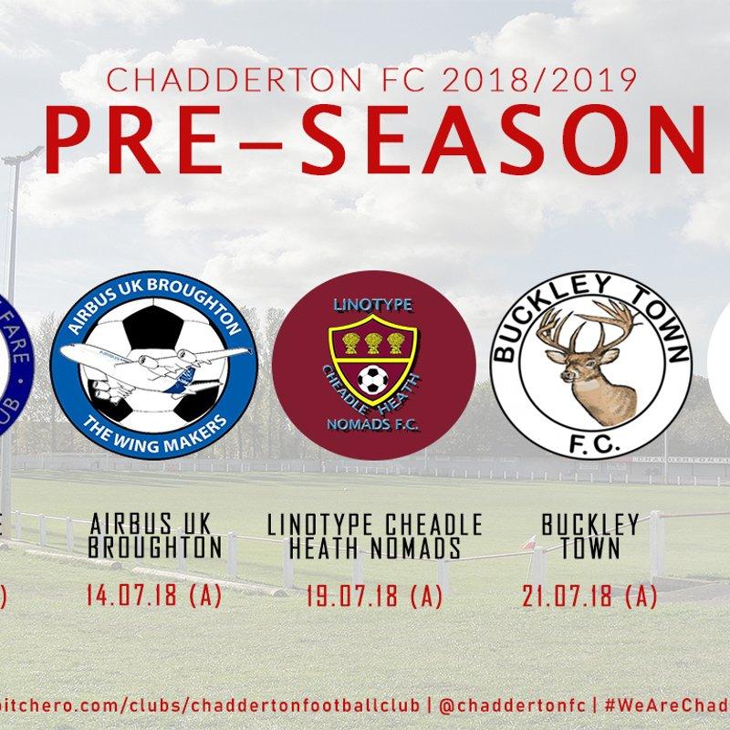 Pre-Season: First-Team schedule revealed