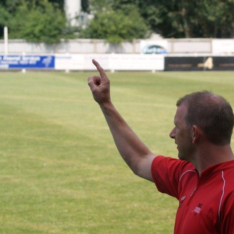 Manager Scott Dundas makes a statement