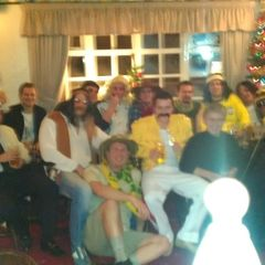 HFC xmas party round the village