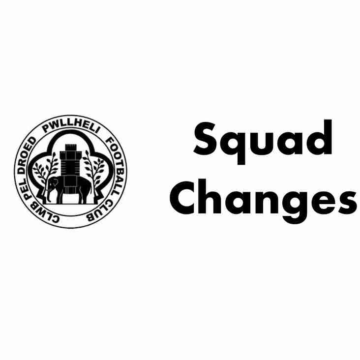 Squad Changes - 3 in & 1 out