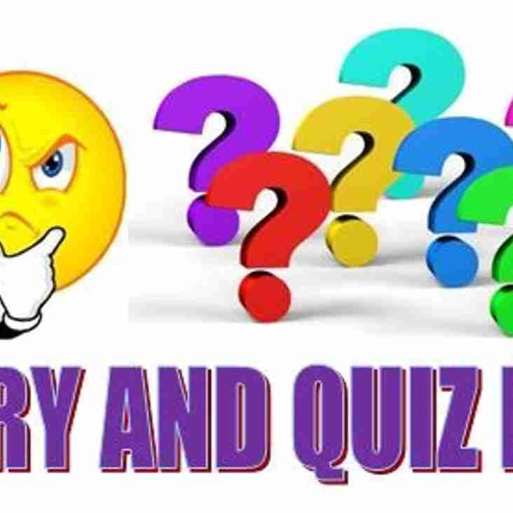 YHC Curry and Quiz Night on Saturday 11th February!
