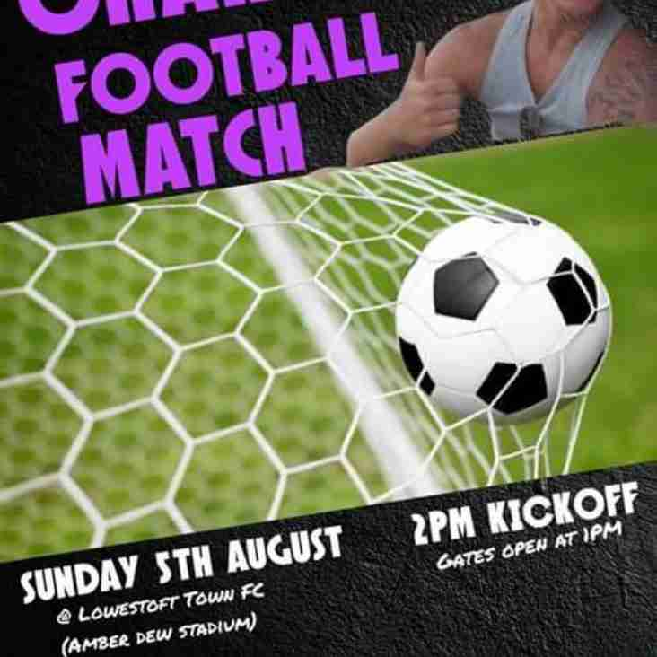 Lowestoft to host charity game