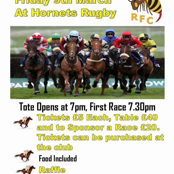 Race Night - Friday 9th March 2018