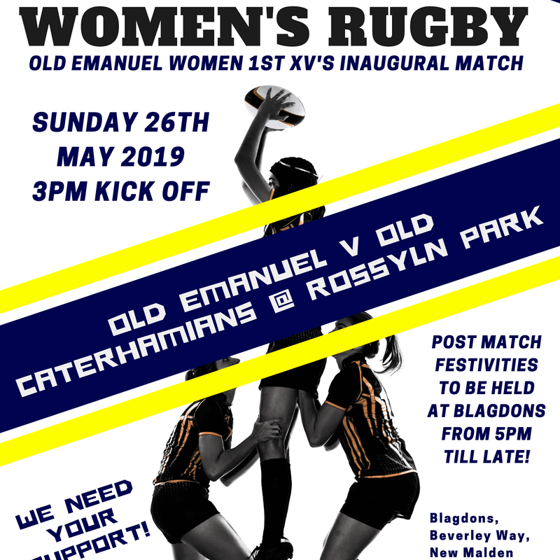 OERFC Women 1st XV's inaugural match v Old Caterhamians!!!