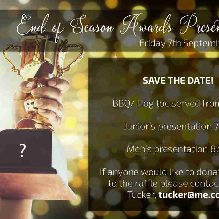 SAVE THE DATE! - Friday 7th September 2018