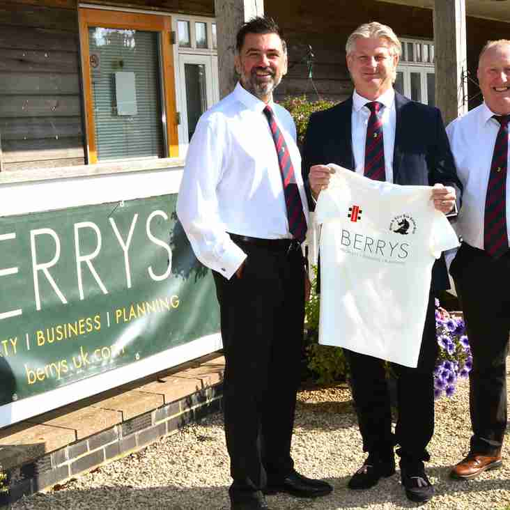 Welcoming New Sponsor Berrys to The Tew Family