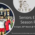 Seniors - End of Season Party @ Frites