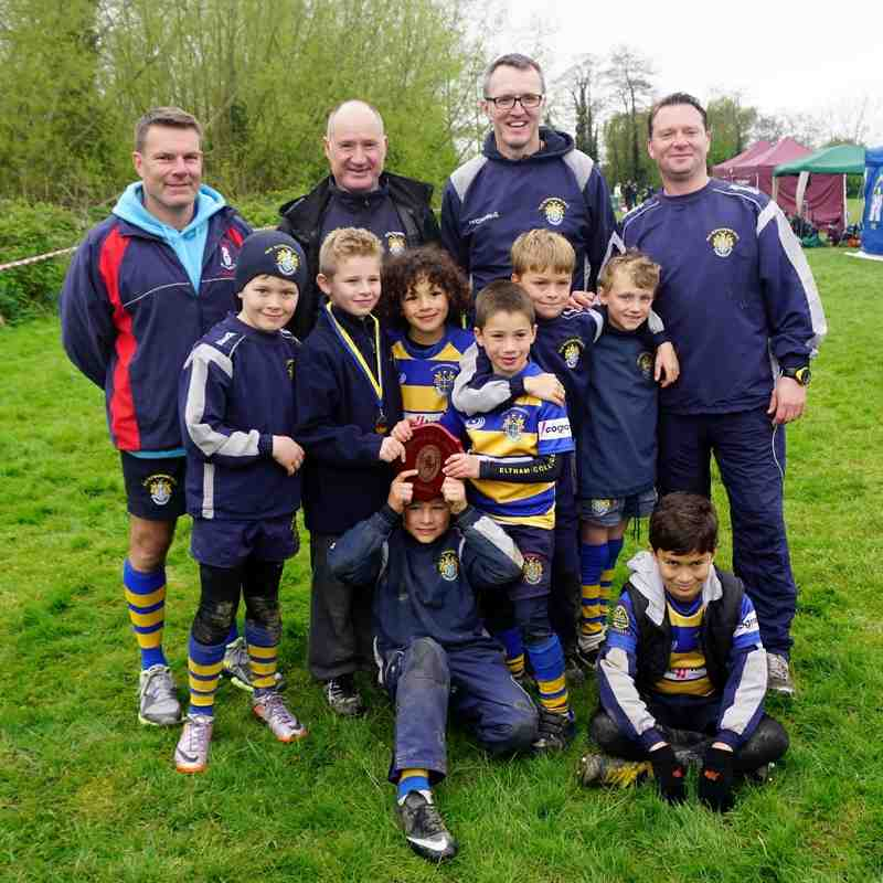 U8's winners of the Shield - Kent Finals 2015