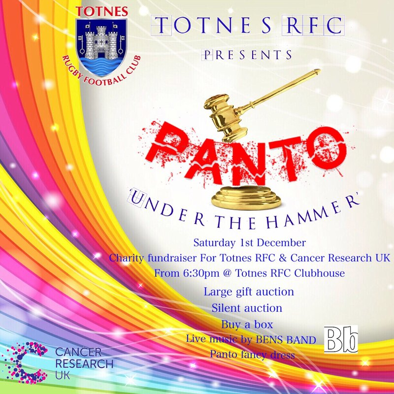 Totnes panto 'Under the hammer'