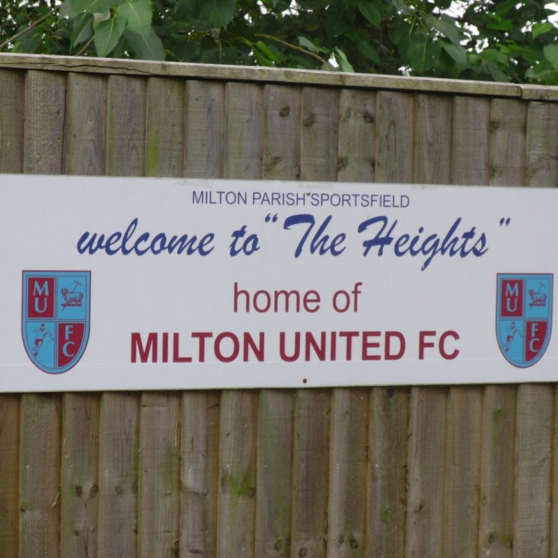 Milton United sponsorship support needed - click for info pack