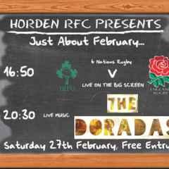February 27th Event - Ireland v England + Live band The Doradas